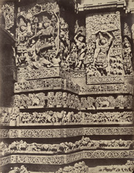 Hullabeed. The Great Temple. Sculptures on the west front. [Hoysaleshwara Temple, Halebid.] 965120